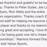 Draymond Green quote to Yahoo Sports on agreeing to terms to stay with the Warriors. http://t.co/U3HLiscd6b