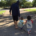 My FAVORITE picture of the summer. My boys and me(theyll probably be bigger than I someday!!). #DaddyhoodRules http://t.co/YNEC5yzxmr