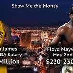 """@SportsCenter: Floyd Mayweather earned more money on May 2nd than LeBron James has earned in his NBA career. http://t.co/WJT4q9hIfo"" damn"