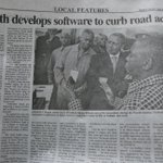 Youth develops software to curb road accidents.He is Godfrey Magilla from DTBI/COSTECH-Tanzania Daily News today http://t.co/DOszciR895