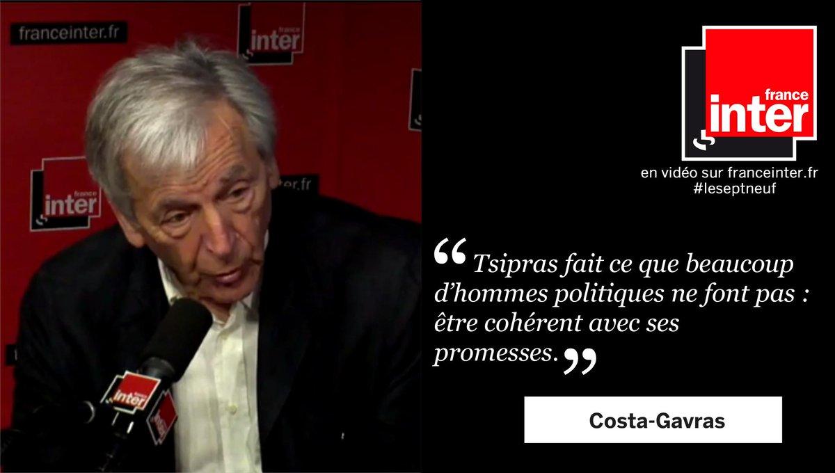 #CostaGavras : '#Tsipras fait ce que beaucoup d'hommes politiques ne font pas : être cohérent avec ses promesses.'