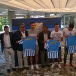 """@MalagaPasion: Juan Carlos, Espinho y Charles posan con la camiseta del #MalagaCF http://t.co/ojB1ZPSr2O"""