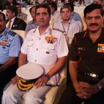 Chiefs of armed forces at the #DigitalIndiaWeek launch event on 1st July15. #DigitalIndia http://t.co/I6Th1RtRBc