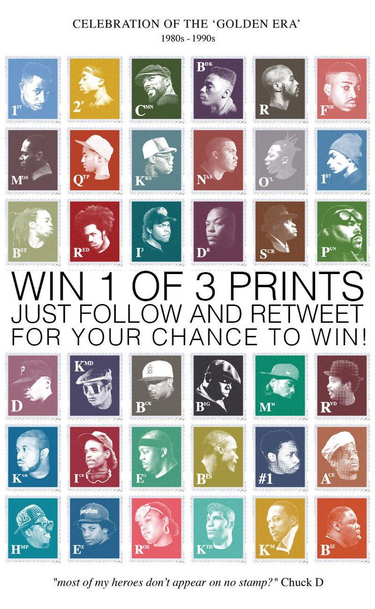#COMPETITION TO #WIN 1 OF 3 GOLDENERA #HIPHOP STAMPS PRINTS TO ENTER JUST #FOLLOW & #RETWEET ENDS SUN 5TH JULY RT http://t.co/G4r4By5VLb