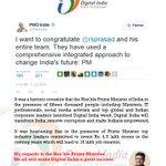 Profound gratitude @PMOIndia @narendramodi.Ur words on #DigitalIndiaWeek inspired us2 work harder 2 realize ur dream. http://t.co/FNarPRnMbx