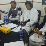 #IK & PervaizKhattak listening the 35 puncture tape recording in a special secret studio, own by Dr Shahid Masood :D http://t.co/7UDbeE6Izx