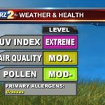 Good morning! Here is todays #weather and health report for the #BatonRouge area: http://t.co/aMK0Yxoh7j