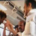Video: DMK leader MK Stalin accused of slapping passenger on Chennai metro http://t.co/O2vbluFHo3 http://t.co/bOaz23U8KO