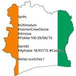 Après  #Ultimatum #IvorianCrewDance #Amissa #Fokker100 29/06/15  Bientôt  #Aphasie 18/07/15 #Casting  Restez scotchez http://t.co/XL4Ka0LyMy