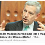 McKinsey CEO Dominic Barton says @narendramodi has turned india into a magnet .This is Burnol Moment for Opposition???? http://t.co/7LxtyhxZeW
