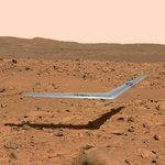 NASA unveils boomerang-shaped prototype aircraft that could be the 1st to take flight on Mars. Pic courtesy: @NASA http://t.co/h6ubiA5oLb