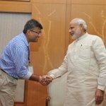Matter of pride 4 me when friends meets the man of millenium @narendramodi @alok_bhatt @kaushkrahul @tajinderbagga http://t.co/LG2e1lGsNT