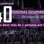 En mayo desapareció más de una persona al día en #Querétaro Vía @codice_informa https://t.co/2Y7T6Kt4hP @_LaAlameda http://t.co/g1T9MnZSmN