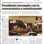 #TemaDelDia Varela no ha cumplido con la Constituyente http://t.co/X28HZj0y3H