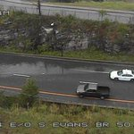 .@jerry_barlar is on I-40 west near exit 210C where there is a lot of water in the road. Traffic is down to one lane. http://t.co/8kdkndrKq2