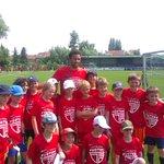 Rode Duivel @mousadembele op bezoek in #thinkfooture voetbalkamp in #wijgmaal #robnieuws http://t.co/MfwC5jA6N0