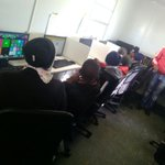 Mazenod Pry pupils during a digital learning session at our learning hub. Maseru, Lesotho @263Chat #QualityEducation http://t.co/3Dkv2RSaZg