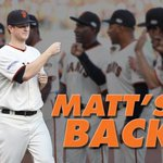 Welcome back, Matt Cain! #SFGiants http://t.co/eZMy5abOR4