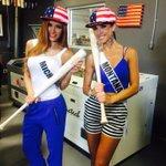 America! They are rockin those stars, stripes and baseball bats @MarucciSports! #GoBR #MissUSA #SaveTheSash http://t.co/g1VtTveXXa