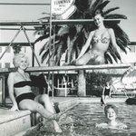 Pools + Bikinis = Vegas fun even in 1961. For our #TBT photo were checking out the dancers from the Flamingo Hotel. http://t.co/KWOsNzNAnC