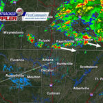 (10:20am) Storms continue across southern TN. Moving east-southeast. Additional storms this afternoon/evening. http://t.co/42tAHFznm4