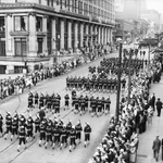 Fourth of July Parade in 1936 for City Archives Pic/Week! https://t.co/vB8xWYYJcT Happy Independence Day! http://t.co/yMHrWiWUZz