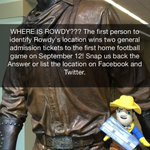 WHERE IS ROWDY? Tweet the location and win today! #GeauxPokes #WhatWeLiveFor http://t.co/277KjjIDzL