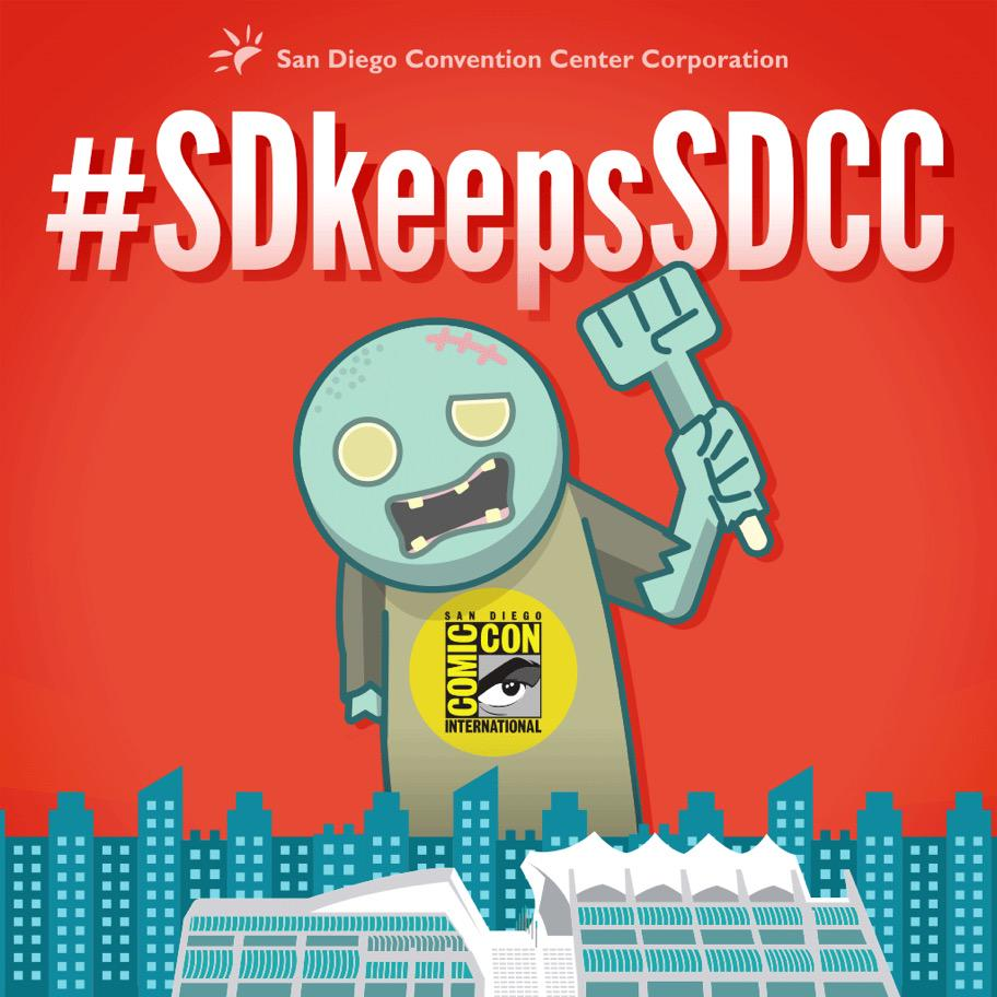 .@Comic_Con is staying in #SanDiego! Mayor @Kevin_Faulconer just made the announcement! #SDkeepsSDCC http://t.co/Y5MwHYbXGS