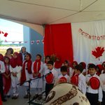 Honoured 2 attend #CanadaDay celebrations at #NorthDelta Ahmadiyya Mosque & hear children sing Oh Canada! #DeltaBC http://t.co/fSrJ3H7N79