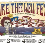 Our Fare Thee Well #festival kicks off TONITE @OneStopAVL w/@PhuncleSam! INFO: http://t.co/tLXx0G8On9 #AVLmusic #avl http://t.co/HBUdCjq6Iy