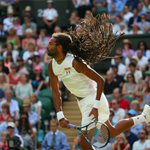 Dustin Brown fires down a big return to take the 1st set 7-5 from Rafael Nadal - is an upset on the cards? #Wimbledon http://t.co/VSX3peKuHb