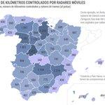 Gráfico interactivo http://t.co/JI9FPQLu0V Consulta, carretera a carretera, la ubicación de todos los radares móviles http://t.co/iyFRireQ0p