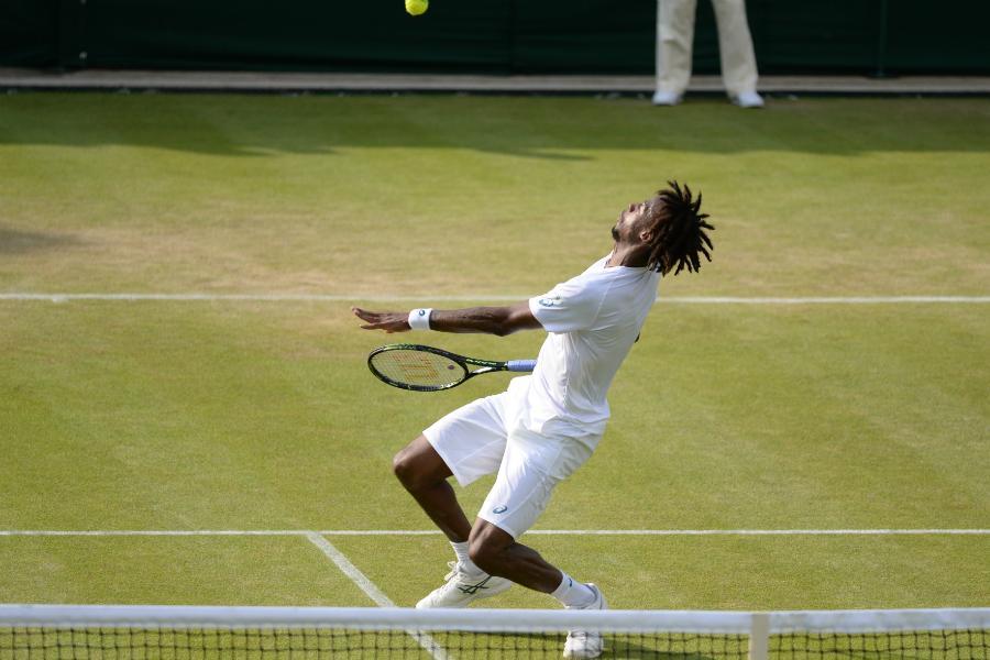 Gael Monfils = showman #Wimbledon