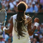A huge upset is brewing on Centre: Dustin Brown takes the 3rd set 6-4 to lead Rafael Nadal by 2 sets to 1 #Wimbledon http://t.co/yF81eFOnXT