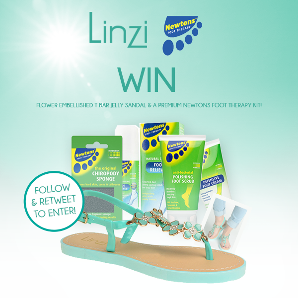 Follow & RT to #WIN a pair of jelly sandals & premium @newtonsfootcare therapy kit in our new #GIVEAWAY #COMPETITION! http://t.co/hGpAtrS9Xx