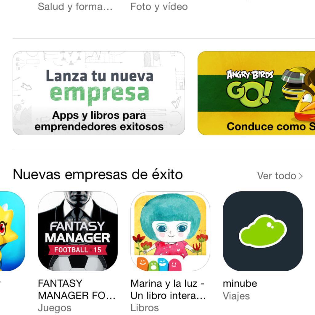 """Apple crea 1 especial LANZA TU EMPRESA y destaca @Chicisimo @wallapop y @minube en sección """"NUEVAS EMPRESAS DE ÉXITO"""" http://t.co/zShEaXFWKF"""