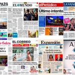 EL PLUMERO DE LOS VOCEROS DEL REGIMEN, LA VERGÜENZA DE LOS PERIODICOS ESPAÑOLES NINGUNA PORTADA PARA LA #LeyMordaza http://t.co/ABQRsgo2fC