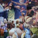 #MLKMural Public Paint Day is 5-8 @TheBessie, before @NightfallCHA. Pic: Muralist Meg Saligmans Shreveport creation. http://t.co/GFyDctREb0