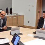 Had a very productive meeting and insightful discussion with @Microsoft CEO @satyanadella at Microsoft in Seattle. http://t.co/voFaVanhJJ