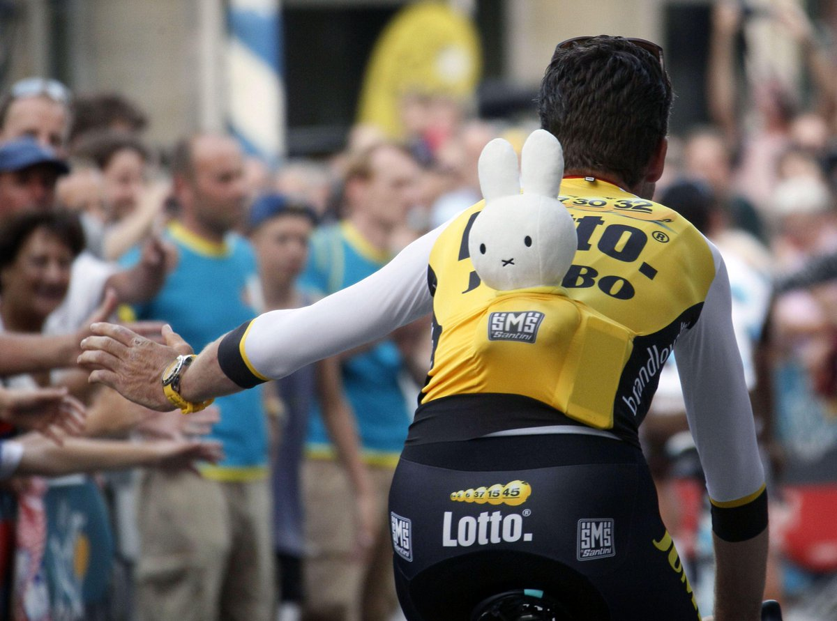 Tour de France of opening is along with Miffy. at Utrecht.#TDF2015 ミッフィーが生まれたオランダ、ユトリヒトでツール・ド・フランス、はじまるよ〜 #miffy http://t.co/uoO4wJNo2r
