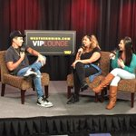 Weve got @AustinMahone in the #WesternUnionVIPLounge with @SelenaONAIR and @itsgabbydiaz_ #Mahomies #dirtyworkjuly10 http://t.co/cd0hXaQq81