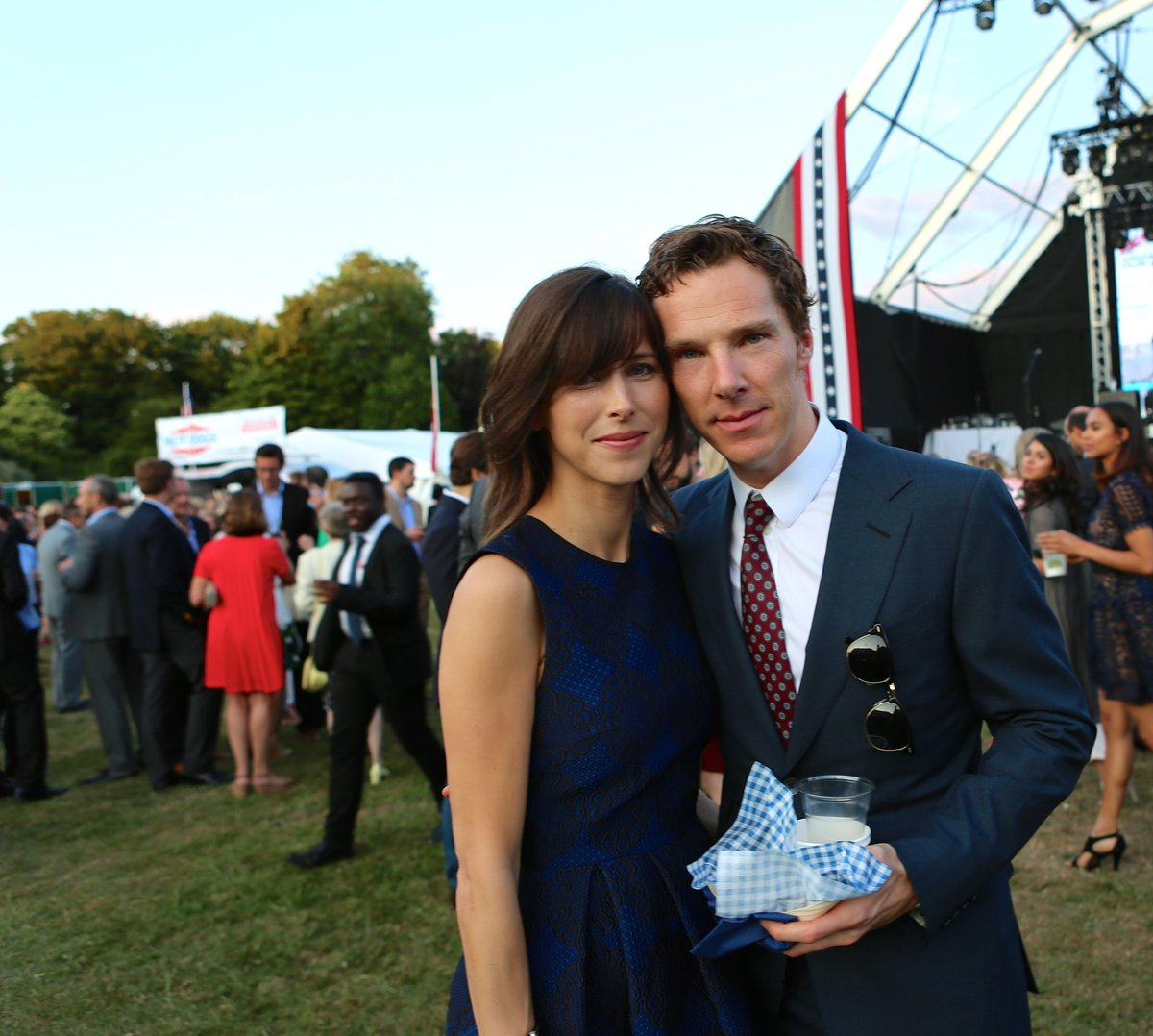 Thrilled to celebrate our national day with a certain Mr Cumberbatch and Sophie Hunter. #J4Winfield http://t.co/t6jUDg1Elp
