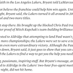 Seriously what is wrong with this? Lol RT @FEPurpleNGold: Kobe's pitch to LaMarcus Aldridge http://t.co/iaG82djNoj