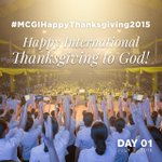 We are thankful to the Lord for His lovingkindness and mercy! -Day1 #MCGIHappyThanksgiving2015 http://t.co/A4nRcqo7ew