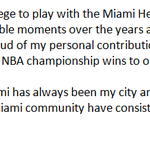 Dwyane Wade releases statement on staying with Heat. (via @AP) http://t.co/DMXTJTM75f
