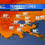 Still toasty out. Mid 80s-low 90s #nola #mscoastwx @wdsu http://t.co/suUCo6zCSH http://t.co/sayh4kHWS0