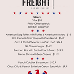 The menu weve put together for our #4thofJuly Party tomorrow night! Enjoy your #foodcoma with live music #Ballarat http://t.co/gQLllixVw3