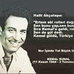 Gülmek en çok sana yakışıyordu. Nur içinde yat #KemalSunal http://t.co/cgO39jfirt