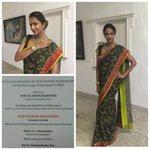 RT @shweta_malpani: @LakshmiManchu in @sashikant_naidu sari, jewellery by @amrapalijewels watch by @Tarun_Tahiliani