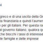 """#FdIAN @GiorgiaMeloni: """"Bloccare tassi interesse mutui e prestiti di cittadini italiani, famiglie e imprese"""" #grexit http://t.co/IvM8a6Z2eb"""